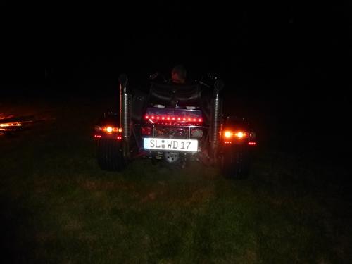 Bremslicht bei Nacht