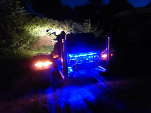 Motorbeleuchtung bei Nacht